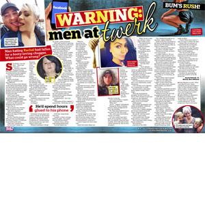 Warning: men at twerk!